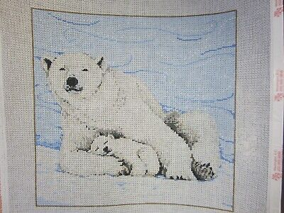 "Needlepoint Canvas ""Blizzard"" by Sandra Gilmore Hand Painted"