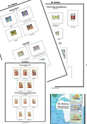 Print your own St Helena Stamp Album, fully illustrated and annotated