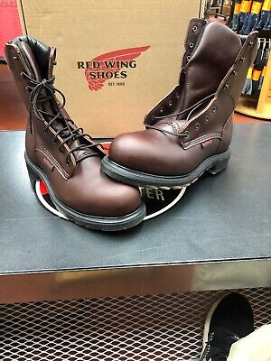6a453fc12e1 RED WING 2408 Mens STEEL TOE Brown MADE IN THE USA 8-Inch Boots ...