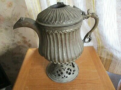antique large silver on copper warming jug /late 18th century..very rare