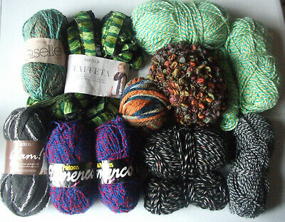 Fancy & Mixed Coloured Wool/Yarn Collection (2 x SIRDAR - FREE PATTERNS INSIDE)