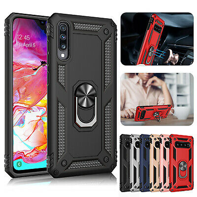 For Samsung S9 Plus Case Note 9 S8 Magnetic Hybrid Ring Holder Bumper Hard Cover
