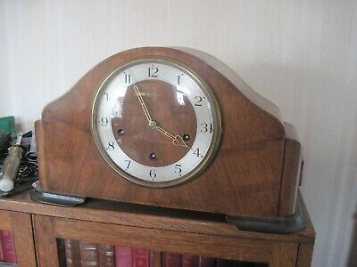 Vintage Mappin & Webb  NAPOLEON HAT WESTMINSTER CHIME MANTEL CLOCK
