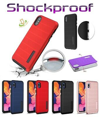 For Samsung GALAXY A50 Hybrid Armor Rubber Rugged TPU Shockproof Grip Case Cover