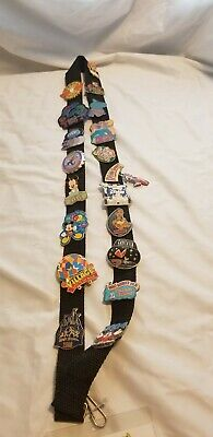 Disney Stitch Lanyard 2004 - Used Lanyard w/ various collectable stitch pins