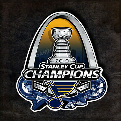 "12"" St Louis Blues 2019 Stanley Cup Champions Arch Defeated Teams Decal Sticker"