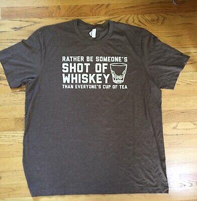 New! Buffalo Trace Distillery T-Shirt Kentucky Straight Bourbon Whiskey  2XL