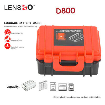 LENSGO D800 Camera Battery CD Memory Card Dust-proof Storage Box Case for Canon