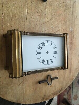vintage brass carriage clock Spares/repairs - French
