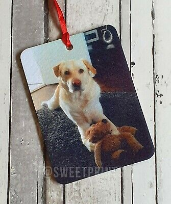 Personalised car air freshener double sided print photo image text