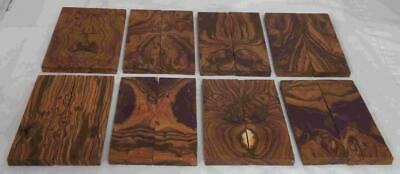 Desert Ironwood 8 pair bookmatched FLAWED knife scale 5.2 x 1.7 x .37 Group RQ