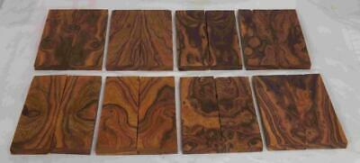Desert Ironwood 8 pair bookmatched FLAWED knife scale 5.2 x 1.7 x .37 Group RS