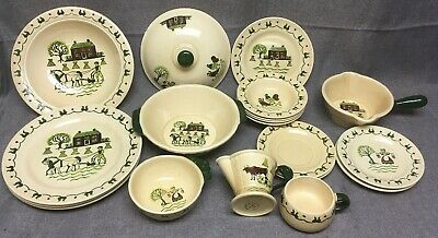 Poppy Trail by Metlox California Pottery Dish Set Plates Bowls Pitcher Pot
