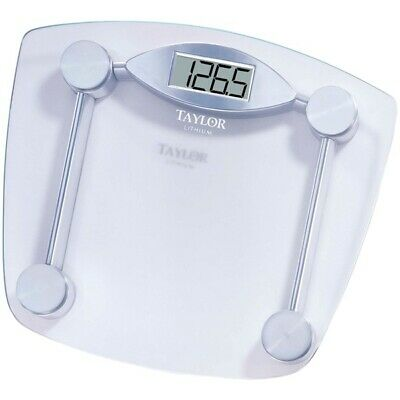 Taylor 7506 Chrome & Glass Lithium Digital Scale 400 lb Capacity