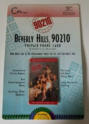 BEVERLY HILLS, 90210 ~ 1995 Frontier PRE PAID Phone Card RARE NEW IN PACKAGE