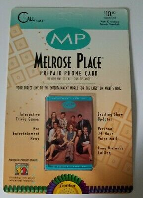 MELROSE PLACE 1995 Frontier PRE PAID Phone Card RARE NEW IN PACKAGE