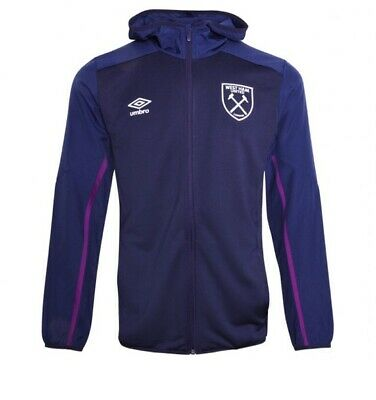 West Ham United FC Hooded Tracksuit Jacket. Size: Men's Large - New With Tags