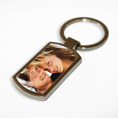 Personalised Keyring Metal Custom Photo Printed Complete with Fitted Box