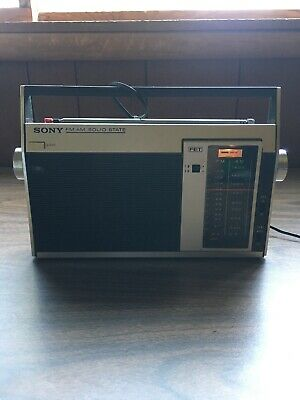 1960s Vintage Sony Solid State Radio FM/AM 7F-81W (TESTED, WORKING)