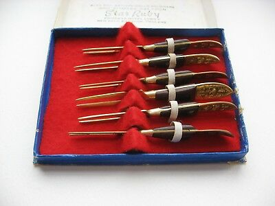 Vintage Mid Century Cocktail Hors D' Oeuvres Canape Forks/Servers//THAI/SIAM