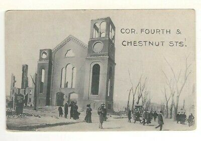 1908 PC: Forth & Chestnut Streets – Chelsea Conflagration Sunday April 12, 1908