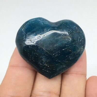 42g, 35mm x 40mm x 17mm, Natural Small Blue Apatite Heart Reiki Energy, B1785