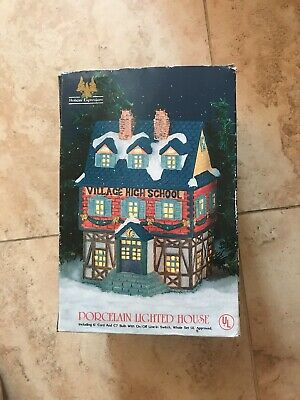 Holiday Expressions Porcelain Lighted House- Village High School CH-01