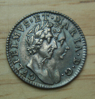 1689 Great Britain 4 Pence KM# 471.1 - 4P Groat Silver Coin - No Reserve!