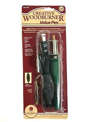 Walnut Hollow Creative Woodburner Value Pen Kit w/ 4 Points Brand New and Sealed