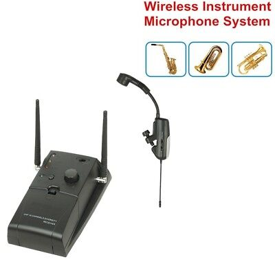 Portable 16 Channels UHF Wireless Instrument System for Brass and Woodwinds Sax