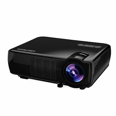 Abdtech 33-06 LCD Portable Projector Home Theater With 2600 Luminous HD 1080P