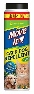 PESTSHIELD  CAT & DOG REPELLENT POWDER PET NON-TOXIC NATURAL GARDEN PATIO 600g
