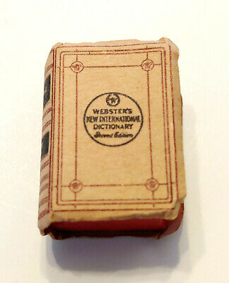 Vintage Doll House Miniature Webster's New International Dictionary