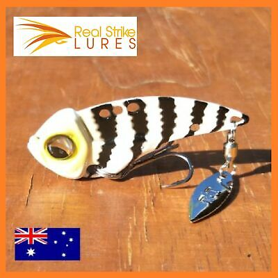 Metal Vibe Fishing Lures Bream Barra Trout Flathead Blade Tackle Free Shipping