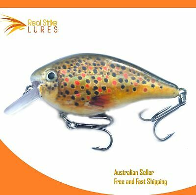 Spotted Fishing Lures, Bream Trout Bass Barra Flathead, Crankbait Tackle Lure
