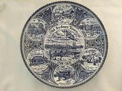 Old Sydney Town Plate 1788-1810  By Johnston Brothers Ceramics