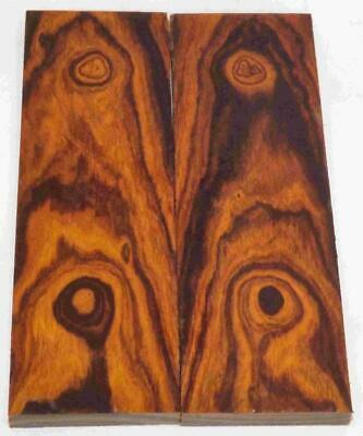 Desert Ironwood bookmatched figured knife scales blanks 5.2 x 1.7 x .37 #459