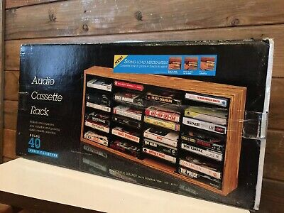 Vintage Audio cassette Rack Holds 40 Taoes New In Box