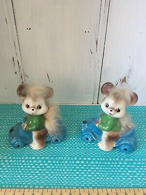 Bears Driving Cars Salt And Pepper Shakers.