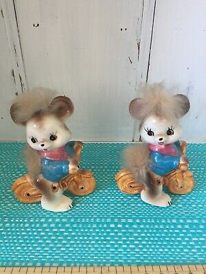 Bears Riding Bikes Salt And Pepper Shakers.