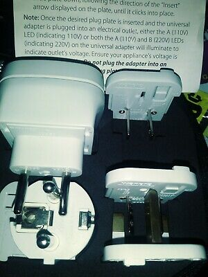 New Brookstone 6 piece world Voltage Adapters With Case And Instructions.