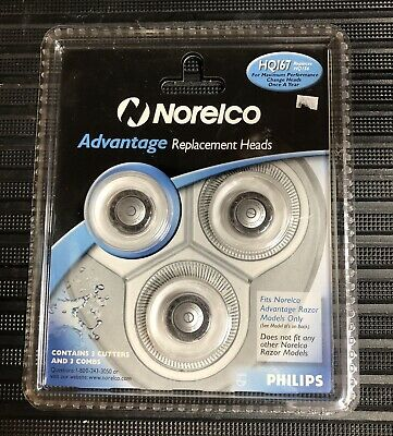 New Philips Norelco Advantage HQ167 Replaces HQ156 Replacement Heads
