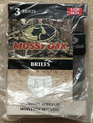 Mossy Oak 3 Pack Mens Briefs Camo Colors (SMALL 28-30) MOBR701MOSMAS1P3