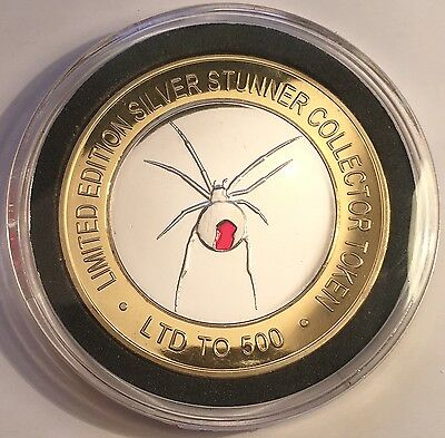 """NEW 2016 Red Back Spider """"Silver Stunner"""" Coin/token C.O.A. LTD 500"""