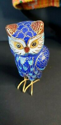 Old Asian Cloisonne Owl …beautiful collection piece