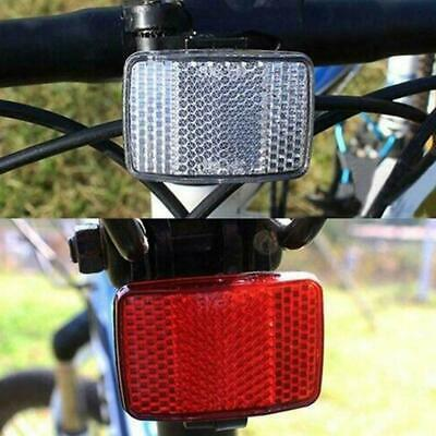 Road Cycle Bike Bicycle Reflector Light Reflective Strips Stick Front Rear Kit F