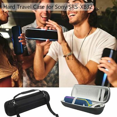 Round Shockproof Hard Protective EVA Case Box For Sony SRS-XB32 Bass Speaker