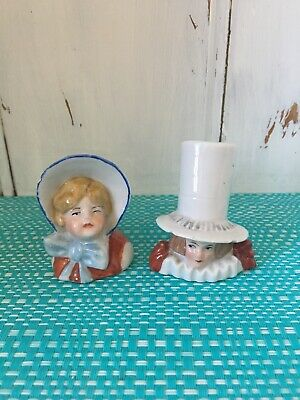 Lady And Gentleman Salt And Pepper Shakers.