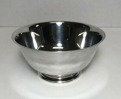 Paul Revere Oneida Silversmiths 6-inch Bowl, Silver Plate, Vintage Reproduction
