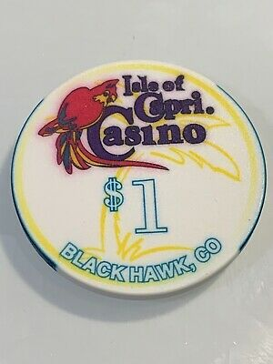 ISLE OF CAPRI CASINO $1 Casino Chip Black Hawk Colorado 3.99 Shipping
